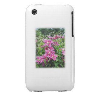 Clematis. Pretty Pink - Purple Flowers. Case-Mate iPhone 3 Case