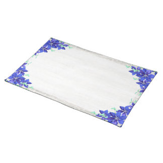 Clematis Purple Queen of Flowers Cloth Placemat