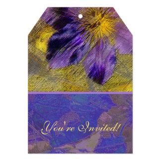 Clematis Purple Yellow Blue Invite
