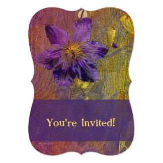 Clematis Purple Yellow Orange Card