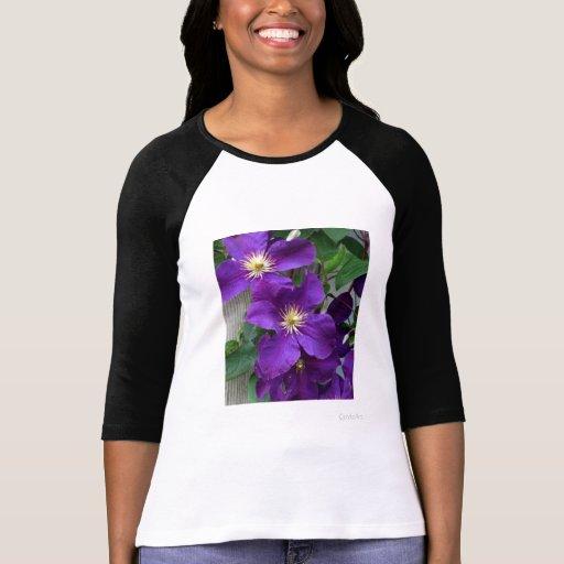 Clematis púrpura azul camisetas
