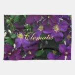 Clematis púrpura de Starburst Toalla