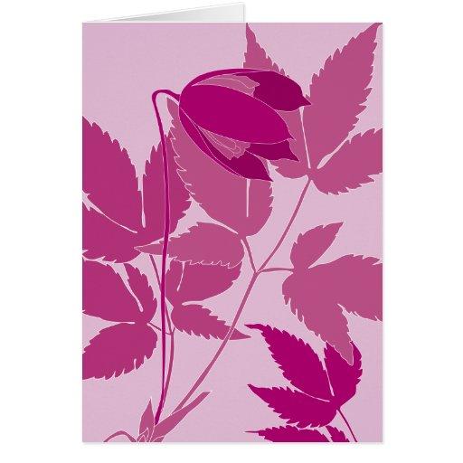 clematis rosado tarjeta de felicitación