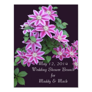 Clematis Shower Invitations