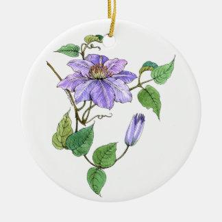 Clematis Vine Ornament Keepsake