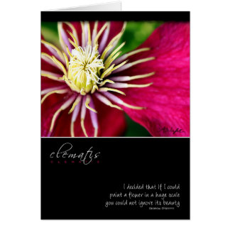 Clematis with Georgia O'Keeffe Quote Greeting Card