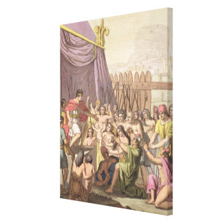 Clemency of Mayta-Capac: offers pardon to conquere Canvas Print