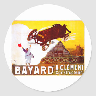 Clément-Bayard Vintage French Automobile Ad Stickers