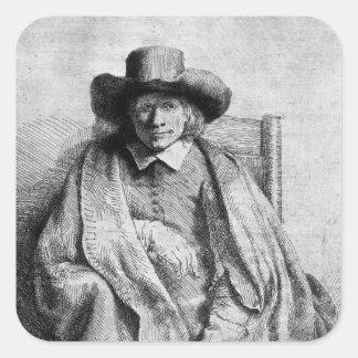 Clement de Jonghe, 1651 Square Sticker