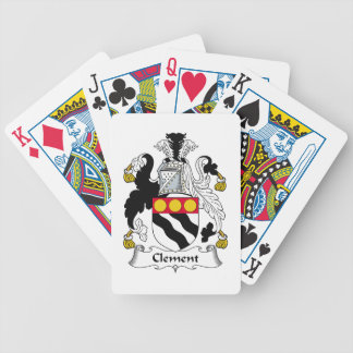 Clement Family Crest Bicycle Playing Cards