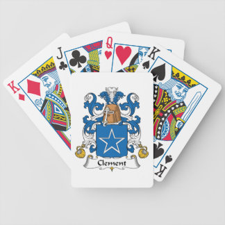 Clement Family Crest Bicycle Poker Cards
