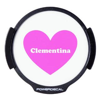 Clementina Sticker LED Para Ventana