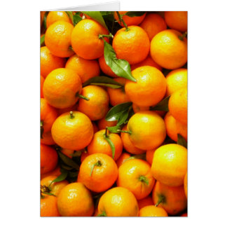 Clementinas en Niza la mercado de la fruta, Franci Tarjeta