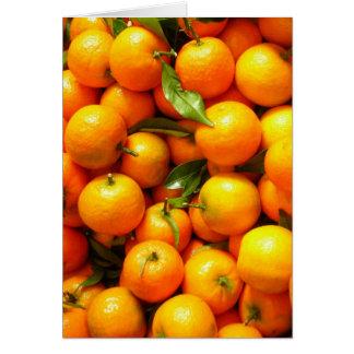 Clementinas en Niza la mercado de la fruta Tarjeton