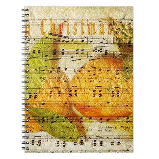 Clementinas queridas para el navidad libro de apuntes con espiral