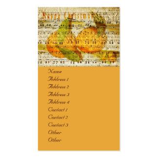 Clementinas queridas para el navidad tarjetas de visita