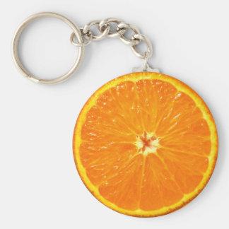 Clementine Basic Round Button Keychain