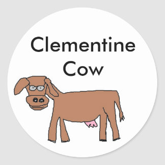 Clementine Cow for Letter C Stickers