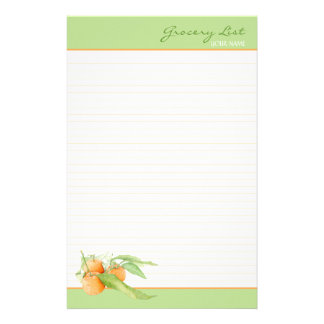 Clementine Oranges Lined To Do List Stationery Design
