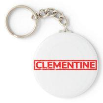 Clementine Stamp Keychain