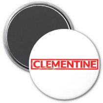 Clementine Stamp Magnet
