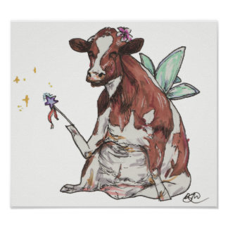 Clementine the Fairy Cow Poster