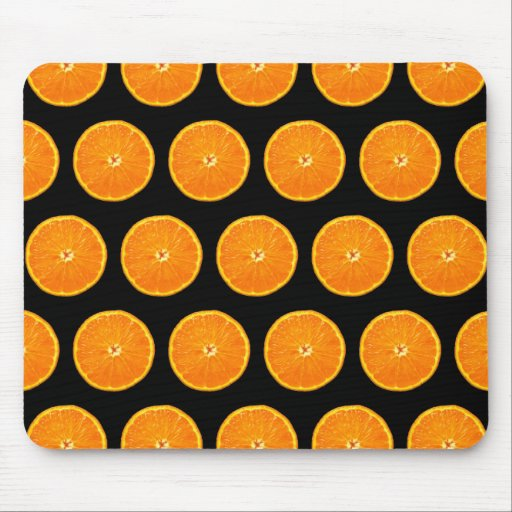 Clementines on Black Mouse Pad