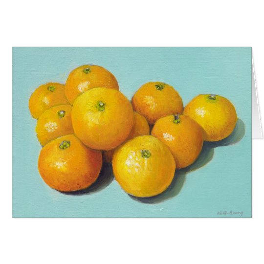 Clementines Still-life Card