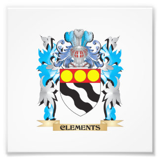 Clements Coat of Arms - Family Crest Art Photo