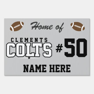 Clements High School; Colts Lawn Sign
