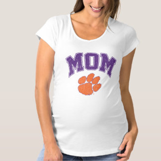 Clemson Mom Distressed Maternity T-Shirt