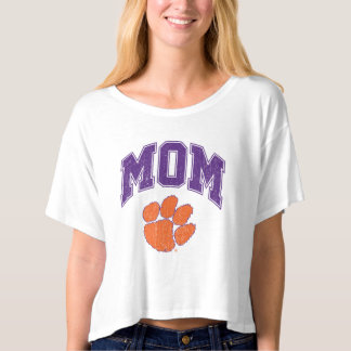 Clemson Mom Distressed T-shirt