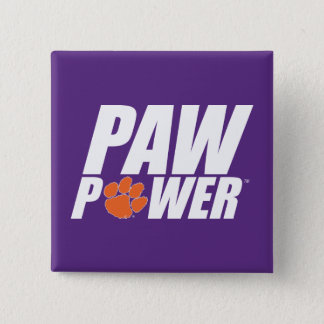 Clemson Paw Power Pinback Button