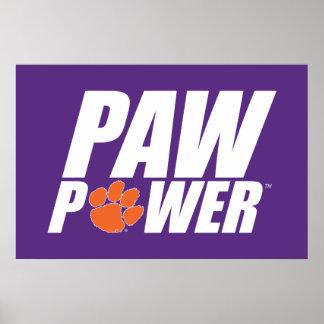 Clemson Paw Power Poster