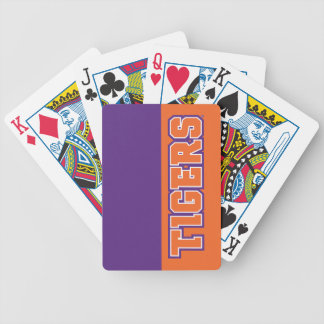 Clemson Tigers Bicycle Playing Cards