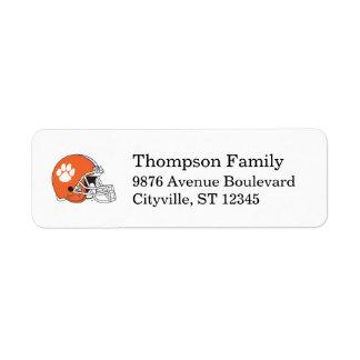Clemson University Football Helmet Label