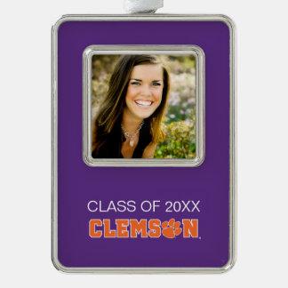 Clemson University Graduation Silver Plated Framed Ornament