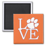Clemson University Love 2 Inch Square Magnet