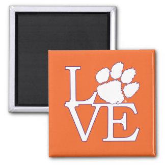 Clemson University Love 2 Inch Square Magnet