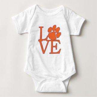 Clemson University Love Baby Bodysuit