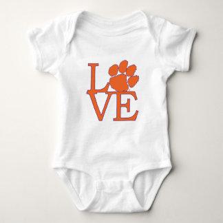 Clemson University Love Baby Bodysuit
