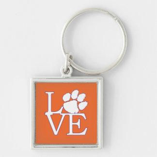 Clemson University Love Keychain