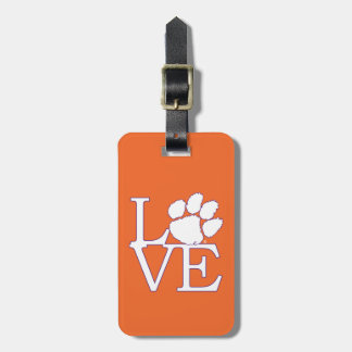 Clemson University Love Luggage Tag