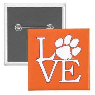 Clemson University Love Pinback Button