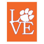 Clemson University Love Postcard