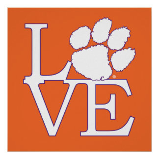 Clemson University Love Poster