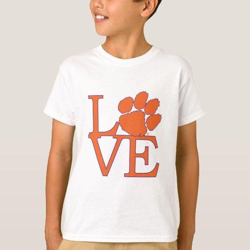 Clemson University Love T Shirt Zazzle