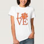 Clemson University Love T Shirt