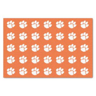 "Clemson University Tiger Paw 10"" X 15"" Tissue Paper"