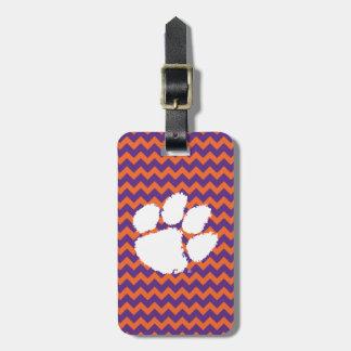 Clemson University Tiger Paw Bag Tag